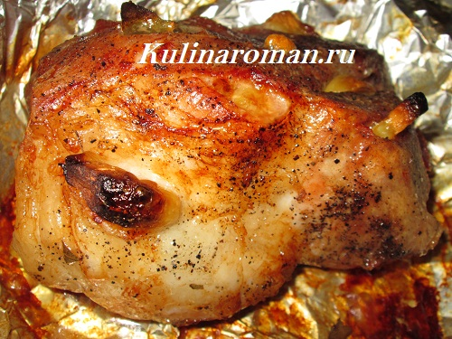 Свинина запеченная целым куском в духовке рецепты
