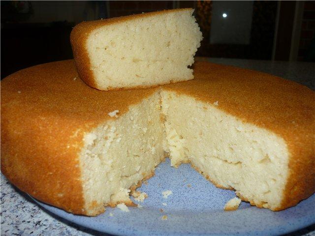 Кекс на кефире в мультиварке пошаговый рецепт с