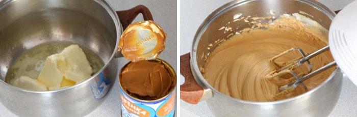Рецепт крема для торта из масла и сгущенки с фото