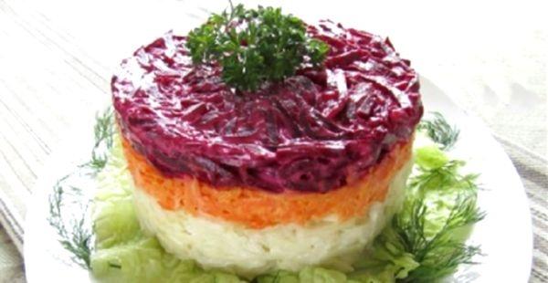 Салат варёная свёкла рецепт с