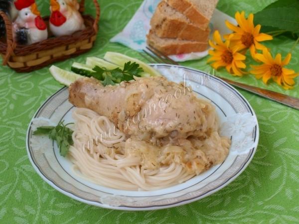 курица в сметанном соусе с фото рецепт