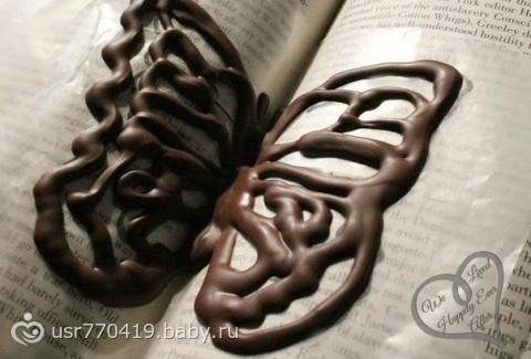 Шоколада для украшения своими руками